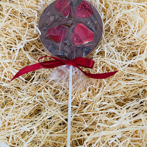Strawberry & Fudge Chocolate Lolly