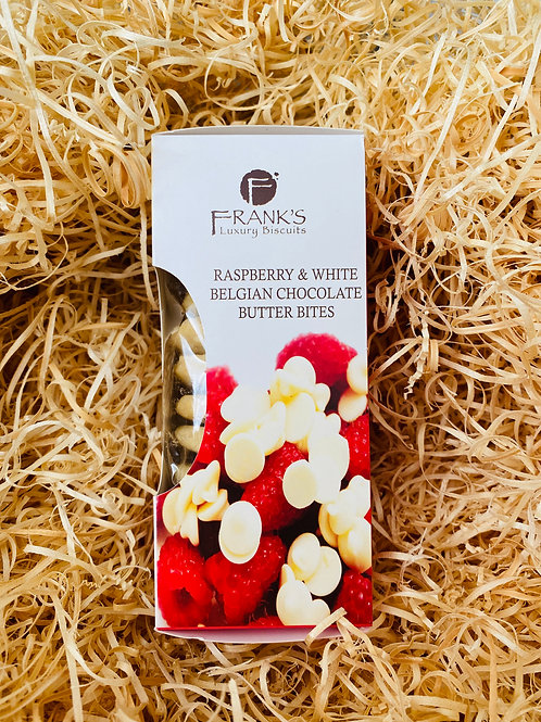 Frank's Luxury Biscuits - Raspberry & Belgian White Choc Chip