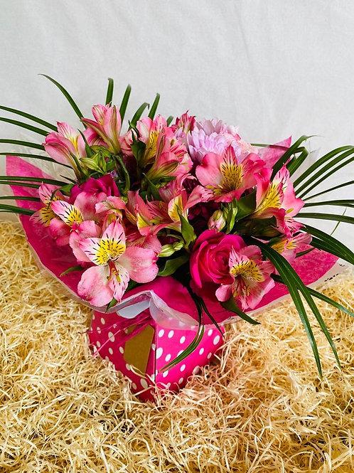 Pink Pamper Living Flower box