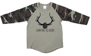 Hunting Season Raglan, Boys (4+)