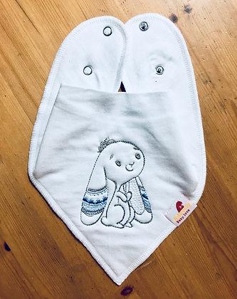 Boho Bunny Bandana Bib - Boy