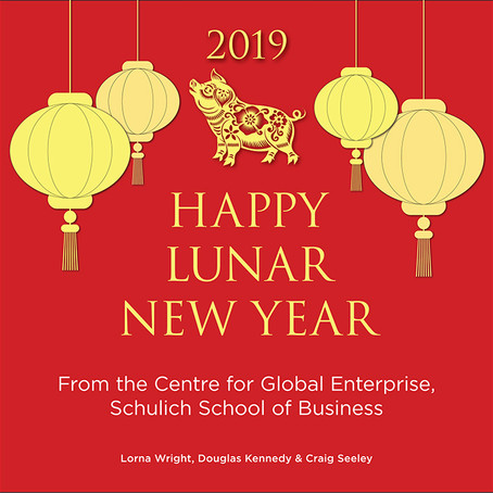 Happy Lunar New Year from the Centre for Global Enterprise