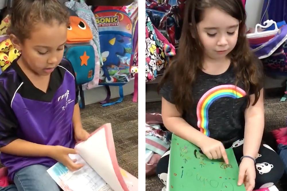 Kindergarten Students give each other Feedback
