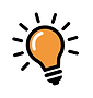 This bright orange lightbulb represents clarity for learning.