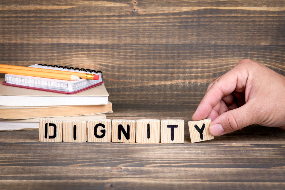DIGNITY Blocks - Image from Shutterstock