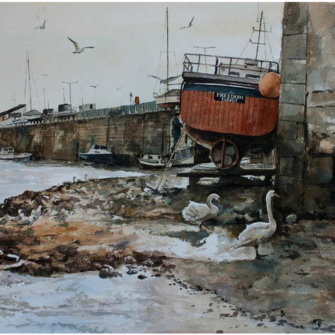 Low tide Aberystwyth