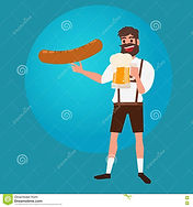 man-holding-glass-beer-sausage-oktoberfe