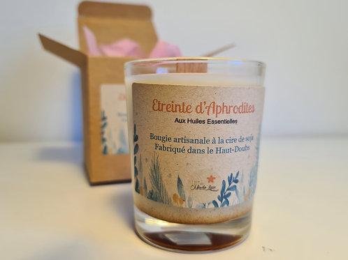 Bougie végétale - Étreinte d'Aphrodites - aux huiles essentielles