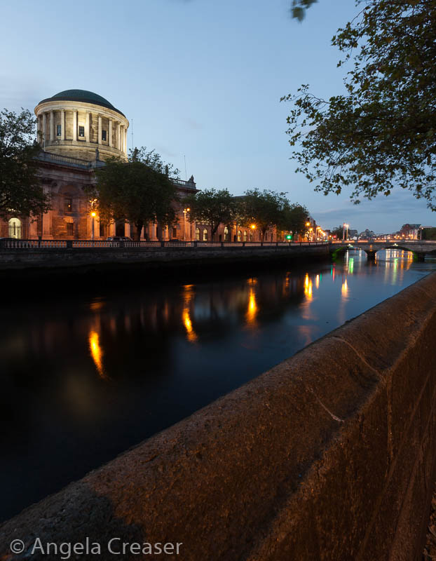 Four Courts at Night, Dublin