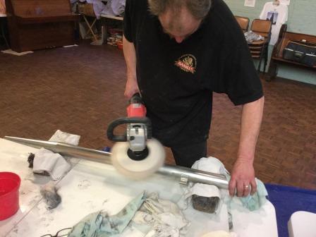 Polishing washed pipes
