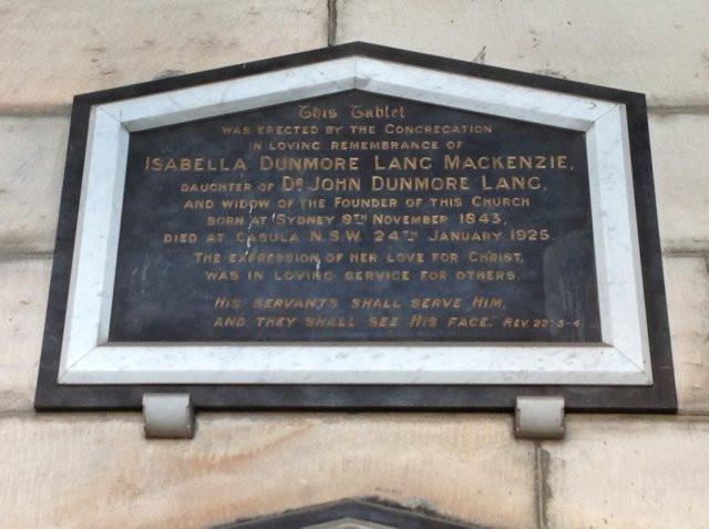 memorial isabella dunmore lang-mackenzie