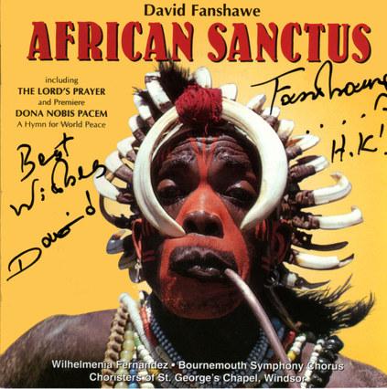 David Fanshawe's African Sanctus CD Cove
