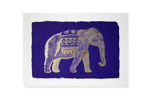 Pack of 5 Notecards - Blue Elephant