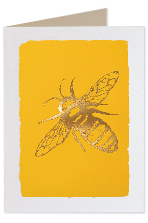 Pack of 5 Notecards - Yellow Bee