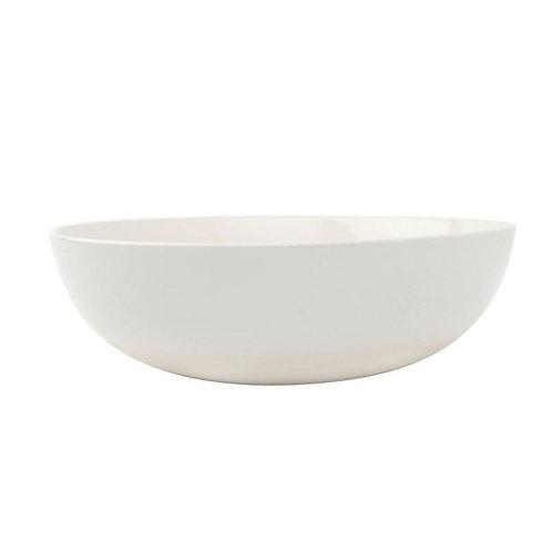 White Stoneware Serving Bowl