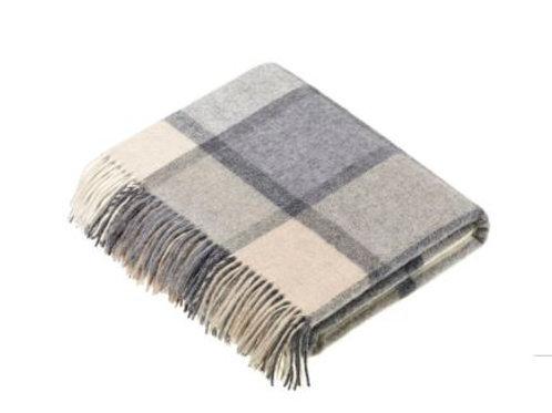 Pure Merino Wool Throw, Camel, Slate & Oatmeal