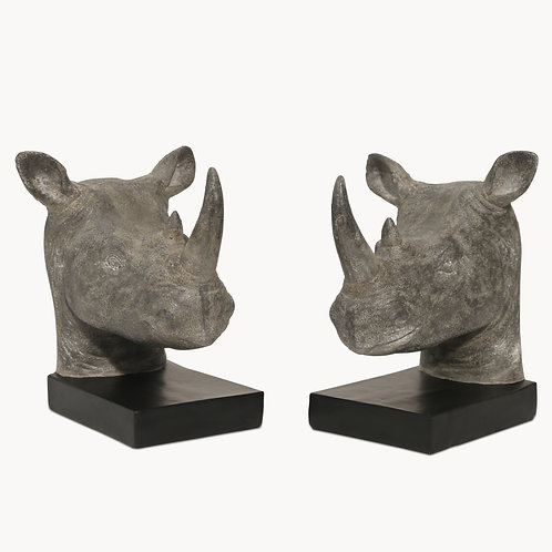 Rhinoceros Bookends