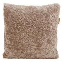 Swedish Sheepskin & Pure Wool Cushion, Elk
