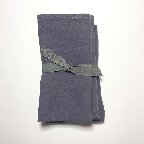 Charcoal Linen Napkins, Set of 4