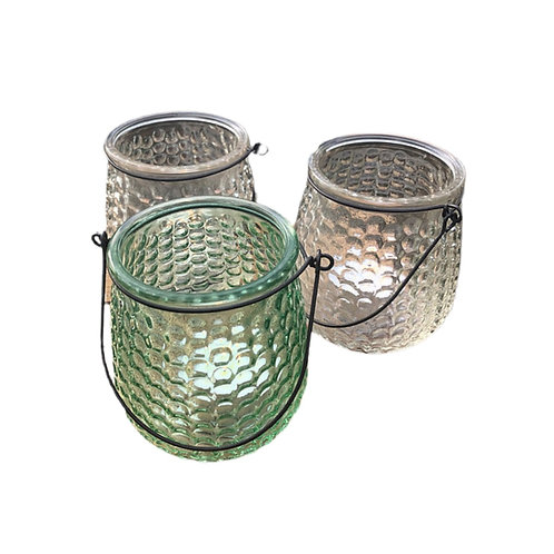 Pair of Hanging Glass Lanterns