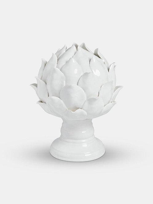 White Ceramic Artichoke