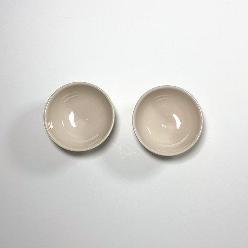 Shell Pink Stoneware Pinch Pots - Set of 2