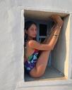 Summer girl Nicoleta wearing her Way Home High Neck One Piece