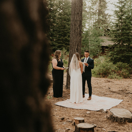 Boho Elopement in Lake Tahoe