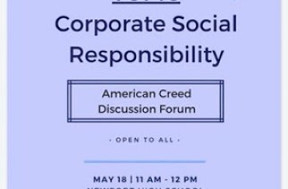 May 18th American Creed Discussion