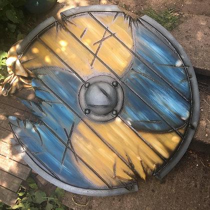 36 inch War Torn Viking Shield