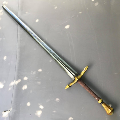 60 inch Gold Two Handed Warsword