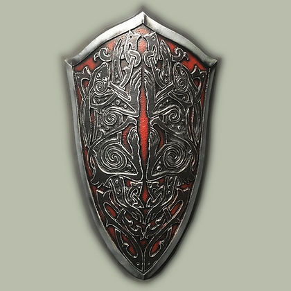 """Knights shield 41"""" by 26"""""""
