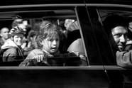 La petite fille et l'auto