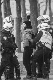 Manifestante arrêtée (2014)