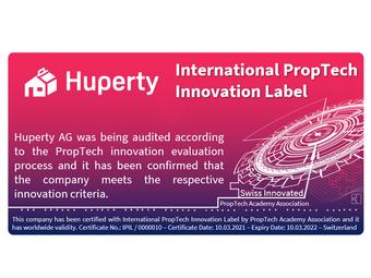 Huperty bekommt eine Auszeichnung als eines der innovativsten Unternehmen in der Immobilien-Branche
