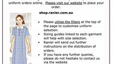 Uniform Orders at Schols