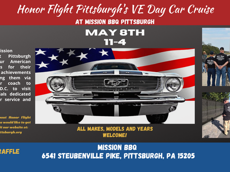 VE Day Car Cruise at Mission BBQ Pittsburgh