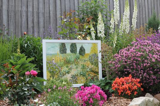 Flower garden in garden