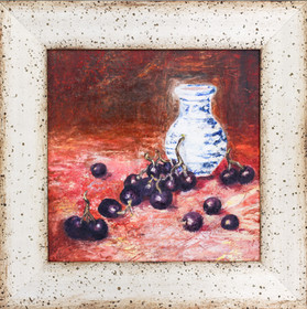 Grapes and vase