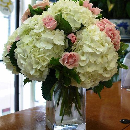 The Classic - Hydrangea/Rose Arrangement