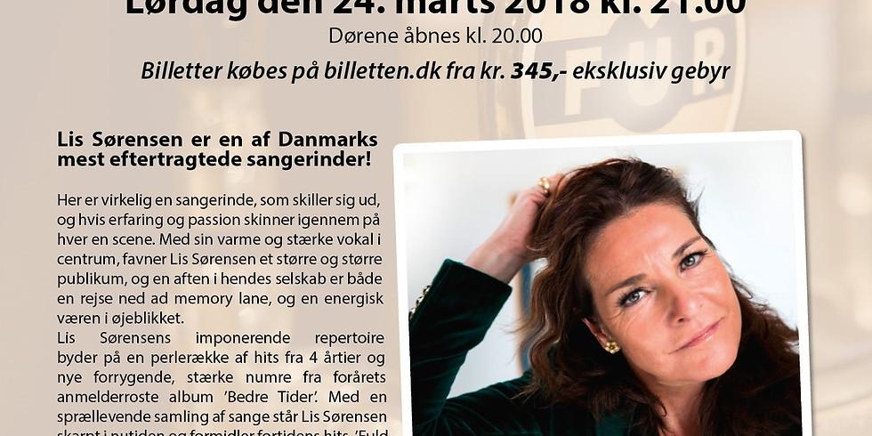 Bus billet til Lis Sørensen koncert med ankomst Bryghuset klokken 20.20