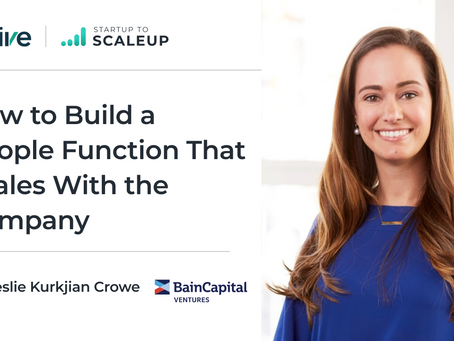 How to Build a People Function That Scales With the Company