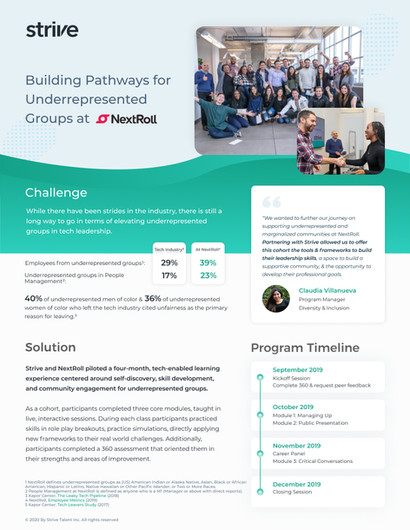 Building Pathways for Underrepresented Groups at NextRoll