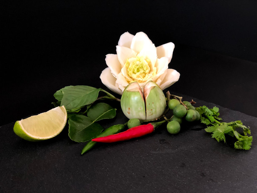 Ingredients for green Thai curry