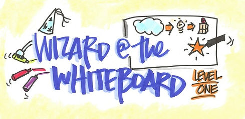 With the Wizard at the Whiteboard 101 class, you'll learn step by step how to bring an idea to life and leverage simple tricks that will turn you into a visual thinker and the Wizard at the Whiteboard and you don't even need to know how to draw.