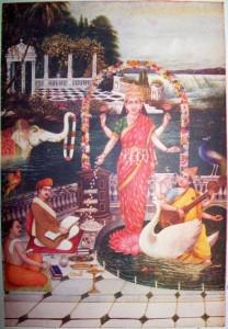 Lakshmi_is_worshipped_by_Brahmins