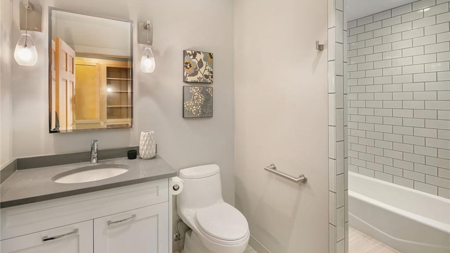 Updated bathroom on main level