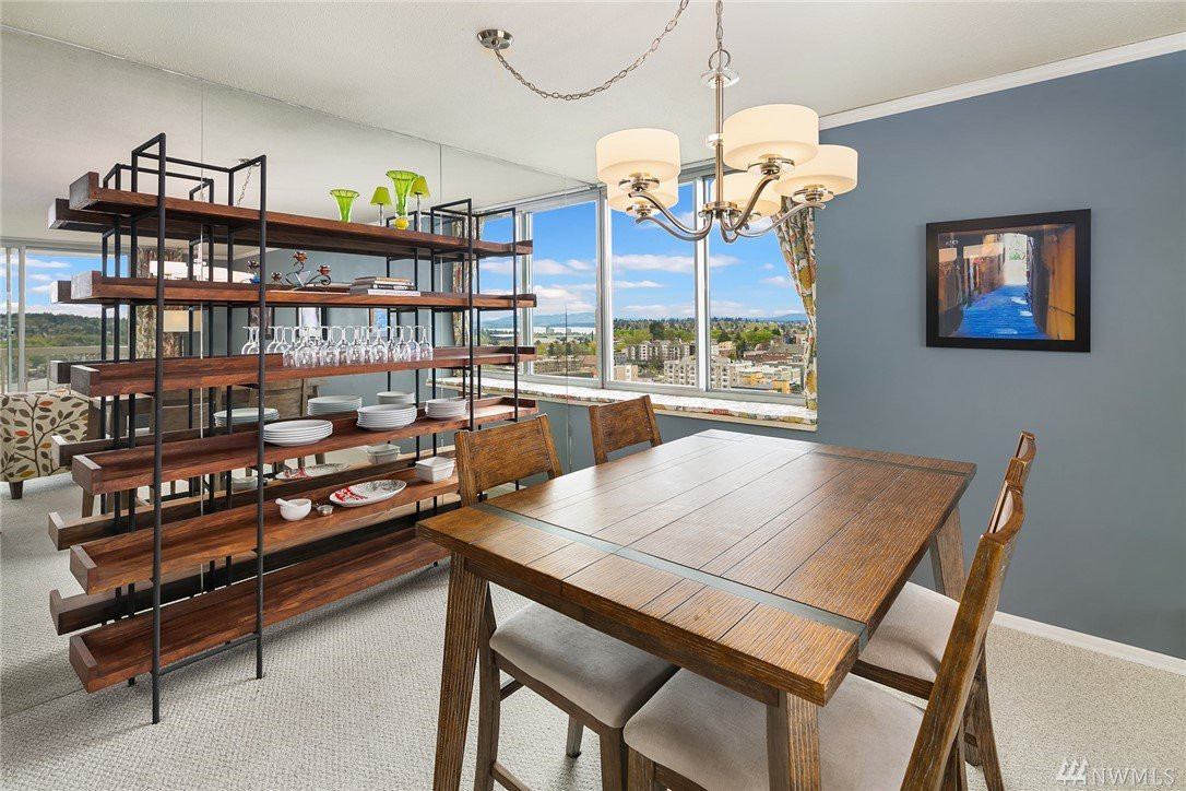 Dining room with views facing east