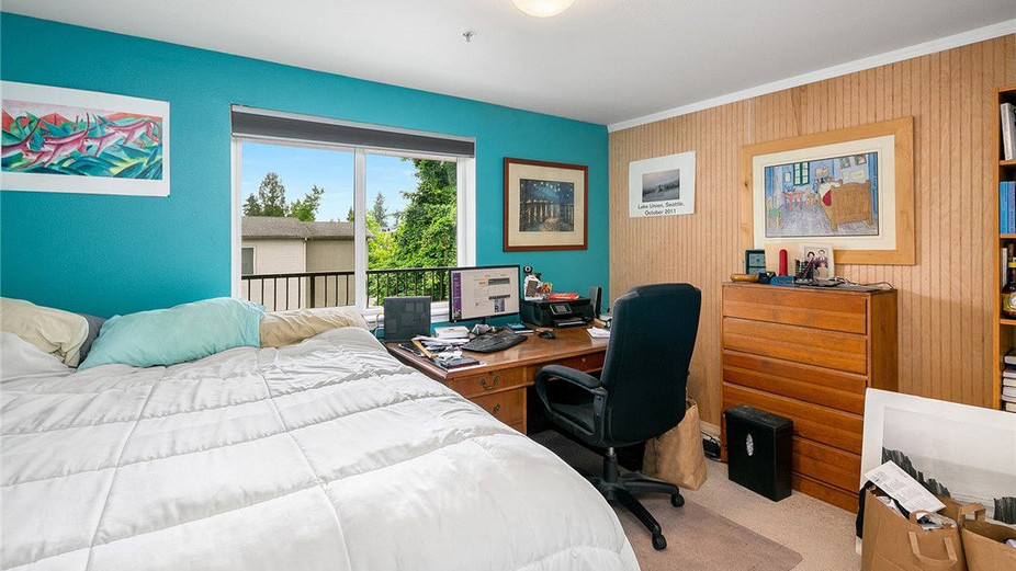 Bedroom facing south