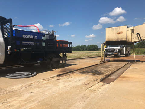 Waste Equipment Pad Site Cleaning